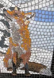 mosaic fox design