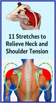 Neck And Shoulder Stretches, Neck And Shoulder Pain, Stiff Neck Stretches, Shoulder Rehab Exercises, Stiff Shoulder, Sciatica Stretches, Shoulder Joint, Muscle Pain Relief, Massage Therapy