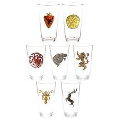 Game of Thrones Distressed House Sigil Pint Glasses [Set of 7]  $69.99