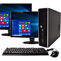 DVD Renewed Windows 10 Pro 24in LCD 240GB SSD New 16GB Flash Drive WiFi 8GB RAM Bluetooth Mouse Intel i5 3.2GHz Dell OptiPlex 390 Desktop Computer Microsoft Office 365 Personal Keyboard