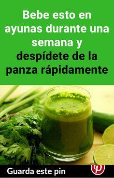 Bebe esto en ayunas durante una semana y despídete de la panza rápidamente #panza #cintura #adelgazar #grasa #bajardepeso #pierdepeso #perejil #limón #agua Diet Drinks, Loose Weight, Cocktail Drinks, Health Remedies, Green Beans, Cucumber, Health Tips, Smoothies, Detox