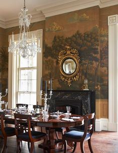 Gorgeous and elegant dining room Wallpaper by de Gournay