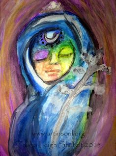 Crystal Devi Portrait Watercolor (Mother) Series 1 (c) 2015 Trisha Leigh Shufelt