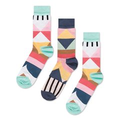 Geom Socks by Odd Pear #accessories #pattern