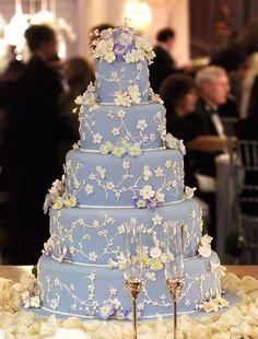 Traditional Wedgwood blue tiered luxury wedding cake. Enjoy RushWorld boards, WEDDING CAKES WE DO, WEDDING GOWN HOUND and UNPREDICTABLE WOMEN HAUTE COUTURE. Follow RUSHWORLD! We're on the hunt for everything you'll love! #WeddingCakesWeDo #LuxuryWeddingCake #WeddingCake
