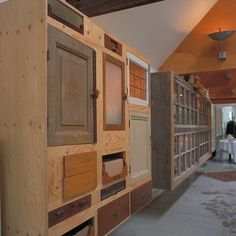 what to do with old doors? I think i see my future garage organization!