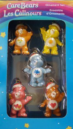 Care Bears Ornaments Set Miniature American Greetings Set of 5 Christmas-set 2