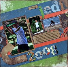 Scrapbook Page Ideas Using Classic Techniques: Young Jedi - Scrapbook Pages on a Slant