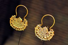 Earrings (13th Century Syria)    Magnificent hand crafting. Loved the details of the artistic work done on these earrings. Taken in Museum of Islamic Art, Doha, Qatar