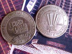2 VTG 70s Slot token from Union Plaza Vegas