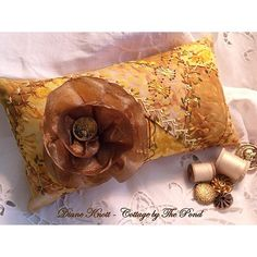 crazy quilted pin cushion or pillow http://www.etsy.com/listing/68242306