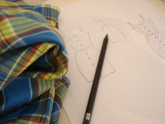 My summer dress designe, inspired by 40's &50's style. I found a piece of checked material at my Grandmother's closet ...