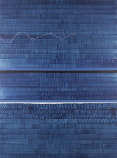 'Soñe que Revelabas (Danubio)' (I Dreamed That You Revealed) by Spanish painter Juan Uslé Vinyl, dispersion and dry pigment on canvas, 120 x 89 in. ty, Cheim and Read. via hyperallergic Deeper Shade Of Blue, Shades Of Blue, Giant Knit Blanket, Spanish Painters, Fabric Rug, Painting Wallpaper, Wassily Kandinsky, Blue Art, Museum Collection