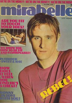 MIRABELLE MAGAZINE 7 June 1975 Steve Harley - Cockney Rebel Steve Harley, Magazine Front Cover, 1970s Music, Music Magazines, Glam Rock, Press Release, Rebel, Rocks, June
