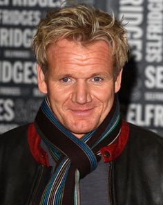 Gordon Ramsey. As weird as this may seem, I have a bit of a crush on Chef Ramsey.❤
