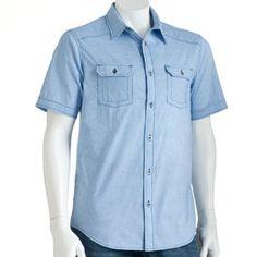Helix Casual Woven Button-Down Shirt - Men #kohls #guys