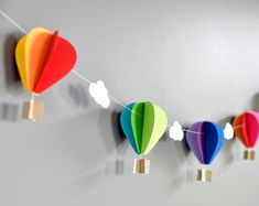 Hot Air Balloon Garland Bright Spark  Bright by youngheartslove