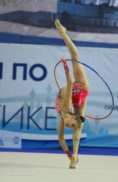 Dina Averina (Russia) ~ Hoop @ GP Kazan 2016  Photographer Oleg Naumov.