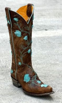 Old Gringo Abby Rose.So close to my dream boots. They just need to have sunflowers on them! Alas, my search continues! Western Wear, Western Boots, Country Boots, Old Gringo Boots, Turquoise Accents, Teal, Cute Boots, Le Far West, Brown Fashion
