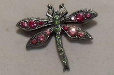 Vintage Rhinestone Dragonfly Brooch/Pin SOLD