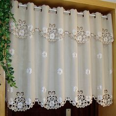 Cheap curtains for, Buy Quality shading curtain directly from China curtains for kitchen Suppliers: British Half-curtain Embroidered Window Valance Customize Light Shading Curtain for Kitchen Cabinet Door Half Window Curtains, Cute Curtains, Kitchen Window Curtains, Cheap Curtains, Crochet Curtains, Beautiful Curtains, Door Curtains, Bay Window, Cheap Kitchen Cabinets