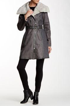 010647f8628b Fleece Asymmetrical Jacket Vince Camuto