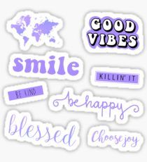 Aesthetic Purple Stickers With Images Hydroflask Stickers