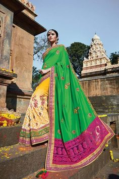 Green Silk Wedding Saree