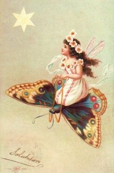 Although fairies have wings of their own, flying on the backs of butterflies is a thrill they truly enjoy.