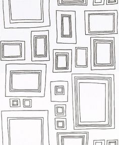 Wallpaper with picture frames on it by Graham and Brown-  FJ also makes a few-