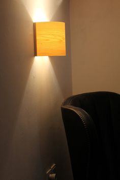 Wall Lamp Click  Wood Veneer Wall Light Natural by Vayehi on Etsy
