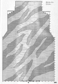 Br-10417 back and front *Use this pattern in an illusion knit shawl, cape or vest in maybe not even very contrasting colours*