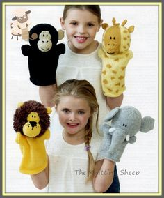 PDF Knitting Pattern To Make Jungle Animals Glove Puppets