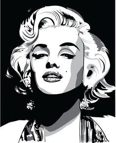 Marilyn vector: marilyn monroe black and white drawing marilyn monroe vector drawing on behance Marilyn Monroe Drawing, Marilyn Monroe Artwork, Marylin Monroe, Zeichnung Marilyn Monroe, Arte Audrey Hepburn, Art Sketches, Art Drawings, Pop Art Marilyn, Black And White Art Drawing