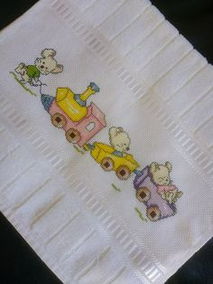 Baby Knitting Patterns, Baby Patterns, Baby Embroidery, Cross Stitch Animals, Hobbies And Crafts, Baby Dress, Crochet Baby, Cross Stitch Patterns, Couture