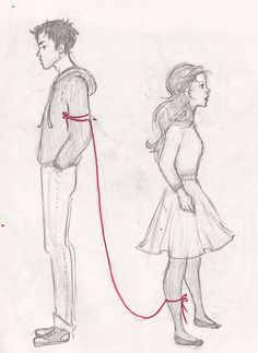 Red String of Fate by lila-selle.deviantart.com on @DeviantArt