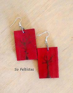 So Feltistas, Paper Earrings - Hand Painted