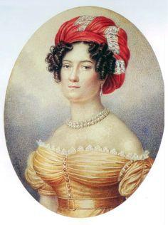 Porträt von Varvara Balk, 1820er