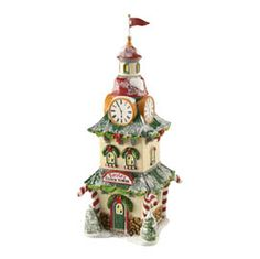 "Department 56: Products - ""North Pole Clock Tower"" - View Accessories"