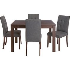Buy Adaline Walnut Stain Extendable Dining Table and 4 Chairs at Argos.co.uk, visit Argos.co.uk to shop online for Dining sets