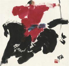 Jia Haoyi - Character; Medium: Ink Painting; Dimensions: 17.72 X 18.11 in (45 X 46 cm)