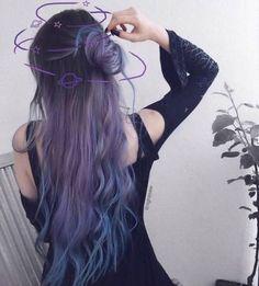 Inspiring Pastel Hair Color Ideas – My hair and beauty Hair Color Purple, Hair Dye Colors, Cool Hair Color, Hair Inspo, Hair Inspiration, Dye My Hair, Aesthetic Hair, Grunge Hair, Hair Highlights