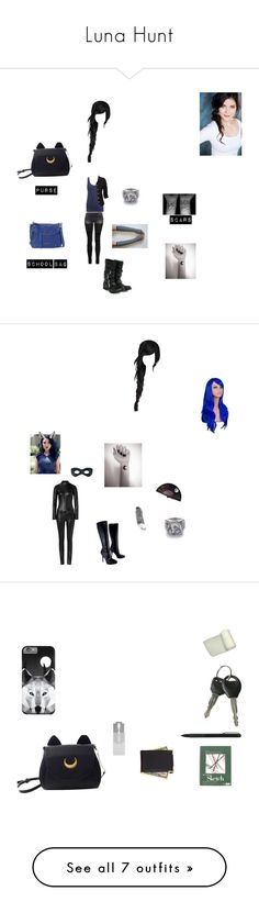 """""""Luna Hunt"""" by theglittergamer ❤ liked on Polyvore featuring Quotev, wattpad, miraculousladybug, H by Hudson, R13, Wet Seal, B. Makowsky, OC, Via Spiga and Jitrois"""