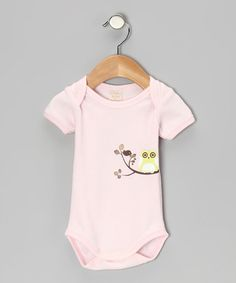 Pink Owl Organic Bodysuit - Infant by Organic Natural Charm on #zulily today!  $9.99