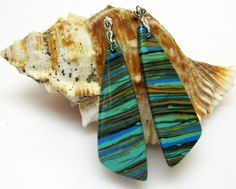 Colorful Earrings  Jasper Gemstone by AVeryCoolEarringShop on Etsy