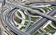 Dubai Highway Interchange | Not all of us have taken in the gorgeous scene that is Dubai from above. We can help: Ahead, stunning shots of the most populous city in the United Arab Emirates.