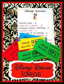 Marci Coombs: DIsney Dollar ideas.