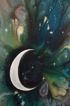 Moonstruck Painting - Liz W Abstract Art Gallery #abstractart #lizwfineart #abstractpainting