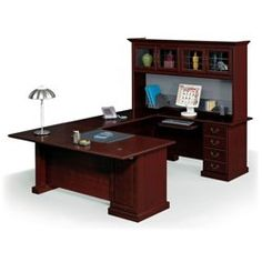 Executive Conference U-Desk with Hutch - 13088 and more Office Desks