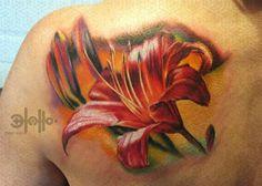 lily flowers tattoo 10 - 60 Beautiful Lily Tattoo Ideas  <3 <3
